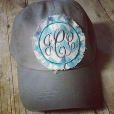 Hey, I found this really awesome Etsy listing at https://www.etsy.com/listing/153980707/raggy-monogram-baseball-hat-or-visor
