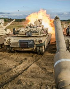 M1A2's of 1st Bat,30th Inf Reg,3rd ID and 1-64th Armor at the target range, Ft Stewart,Ga. Nov 2013.(US Army photo)
