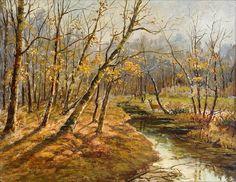 "Constantin Yakovlevich Kryzhitsky (1858—1911), ""Autumn landscape""   Flickr - Photo Sharing!"