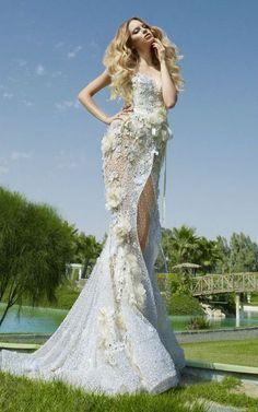 #model #white dress #wedding