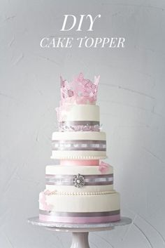 DIY Wedding : DIY Paper Cake Topper For Your Wedding