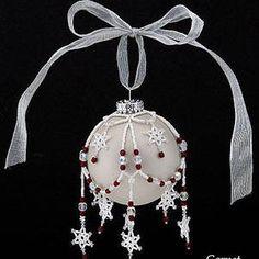 Snowflake Ornament Cover | JewelryLessons.com $6.00