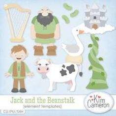 Base on the childhood story, this Jack and the Beanstalk template pack is perfect for themes like a new reader, bedtime stories, and more! Includes a PSD and separate PNG layers for a beanstalk, cow, giant, goose laying golden egg, harp, Jack and a magic bean. Commercial use ok!