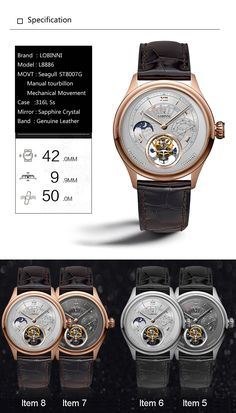 Switzerland Tourbillion Mechanical Watch Mechanical Watch, Switzerland, Band, Watches, Leather, Stuff To Buy, Sash, Wristwatches, Clock