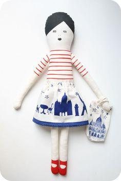 TO DIY (I love Paris doll DIY kit / mikodesign)