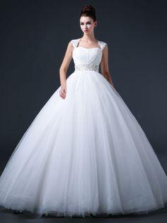 Princess Ball Gown Wedding Dress with Keyhole Back CC3009 JoJo's Shop