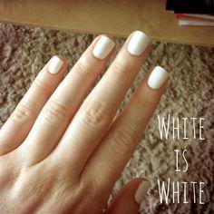 manucure blanche