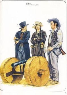1,2&3:Texian volunteers,1835.