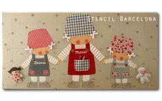 Cuadros originales infantiles de #stencilbarcelona
