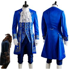 >> Click to Buy << Beauty and the Beast Costume Beast Cosplay Blue Gentleman Outfit Adult Men Halloween Carnival Clothing 2017 Movie Custom Made #Affiliate