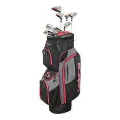 The women's Cobra XL Speed complete set features lightweight and forgiving driver, fairway woods, hybrids and iron designs that are each engineered to deliver maximum distance and forgiveness. Best Golf Club Sets, Best Golf Clubs, Womens Golf Set, Cobra Golf, Sand Wedge, Miniature Golf, Golf Accessories, Play Golf, Golf Outfit