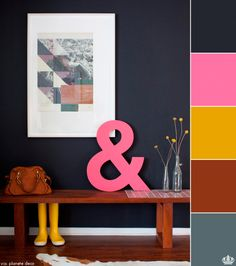Using the color black in decorating without fear.