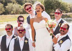 groomsman looks  I think every bride should do a shot like this.....so darn cute!