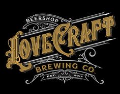 Lovecraft Brewing logo on Behance Typography Letters, Typography Logo, Logos, Typography Inspiration, Graphic Design Inspiration, Label Design, Logo Design, Craft Beer Labels, Logo Character