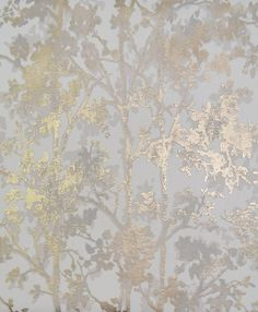 Shimmering Foliage York Wallcoverings Wallpaper Wallpaper York Wallcoverings Grays Silver Whites Designer Wallpaper Floral & Plants Wallpaper Metallic Wallpaper Textured Wallpaper, Non Woven, Easy to clean , Easy to wash, Easy to strip
