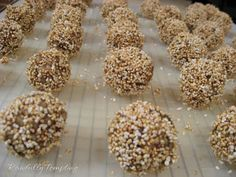 Amaranth protein pops. Amaranth pecans and almonds make these little balls big on nutrition! #vegan