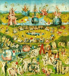El Bosco.- El jardín de las Delicias/ Garden of Heavenly Delights by El Bosco. Museo del Prado, Madrid