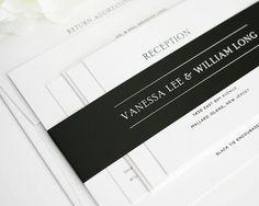 Wedding Invitation, Black and White Wedding Invitation, Simple Elegance - Deposit to Get Started on Etsy, £63.32