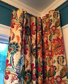 Set of Two Vintage Short Drape Curtains Bathroom Kitchen Boy/'s Bedroom as-is Mid Century 2 Curtain Panels Woven Brocade Orange Black Beige