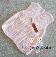 Sebahat Kutlu Sebahat Kutlu, the Sweater Knitting Patterns, Knitted Poncho, Knitting Designs, Baby Knitting, Knit Baby Dress, Crochet Baby Clothes, Crochet Baby Shoes, Knit Baby Sweaters, Girls Sweaters