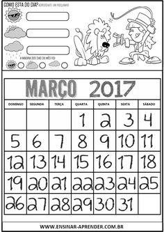 CALENDÁRIOS 2017 PARA CADERNO TEMA CIRCO E PALHAÇOS | Cantinho do Educador Infantil
