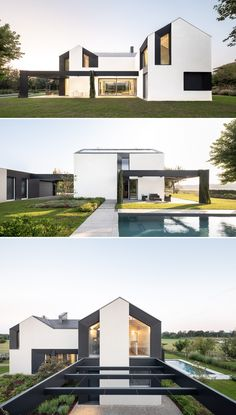 The country house is anchored to the horizon line, where the bank of the Tresinaro torrent stands as background and scene of the environmental field Modern Contemporary Homes, Modern Design, Three Bedroom House Plan, Futuristic Home, Bamboo House, Concrete Houses, Virginia Homes, Zaha Hadid Architects, Tiny House Plans