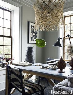 the black and white motif of a charleston home by jill sharp weeks extends black white home office cococozy 5