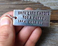 When life throws you a curve, lean into it. - motorcycle keychain - gift for bikers Motorcycle Gifts, Motorcycle Quotes, Motorcycle Touring, Girl Motorcycle, Motocross Quotes, Touring Motorcycles, Custom Motorcycle Helmets, Classic Motorcycle, Motorcycle Travel