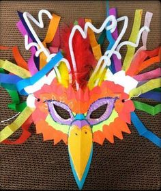 We love how this librarian used all the odds and ends in her craft supply closet to make amazing animal masks. Projects For Kids, Art Projects, Crafts For Kids, Arts And Crafts, Carnival Crafts, Carnival Masks, Carnival Of The Animals, Vbs Crafts, Thinking Day