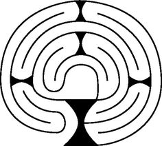 Chalice Labyrinth Diagram by Shirley Two Feathers  Activity packet or finger labyrinth for meditation corner
