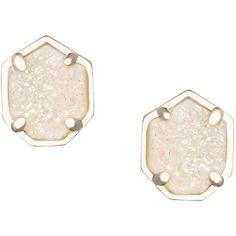 Kendra Scott Logan Druzy Button Earrings ($60) ❤ liked on Polyvore featuring jewelry, earrings, accessories, black drusy, black druzy earrings, button earrings, 14k earrings, multi colored earrings and drusy earrings