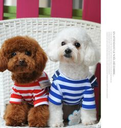 pet dog clothes spring and autumn costume  teddy clothing sailor suit navy stripe overalls pants for dogs dog Jumpsuit jans