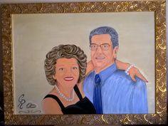 N: 11  Ritratto di Luana e Adolfo 50' anniversario di matrimonio
