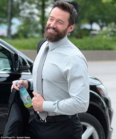 """Hugh Jackman. *wispering voice* """"look how tight his shirt is"""""""