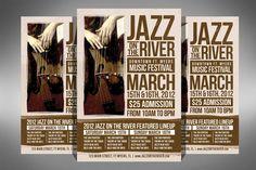 Check out Jazz Music Festival Flyer by ultimatebundles on Creative Market