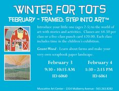 Winter for Tots February 2016 - Muscatine Art Center