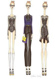 Love the Resort 2012 Marc by Marc Jacobs line!  Yay Fashion Illustration!