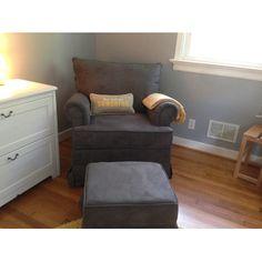 Chloe Sand Fabric Nursery Swivel Glider Recliner Chair