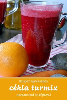 Szuper egészséges és finom cékla turmix naranccsal és répával. Kóstold meg! Nutribullet Recipes, Smoothie Recipes, Raw Food Recipes, Cooking Recipes, Healthy Recipes, Raspberry Smoothie, Weight Loss Smoothies, Herbal Remedies, Clean Eating Snacks