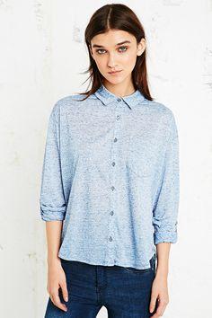 BDG Sebastian Button-Down Shirt in Blue