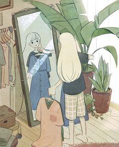 Art And Illustration, Illustration Mignonne, Art Anime Fille, Anime Art Girl, Cartoon Wallpaper, Animes Wallpapers, Cute Wallpapers, Aesthetic Art, Aesthetic Anime