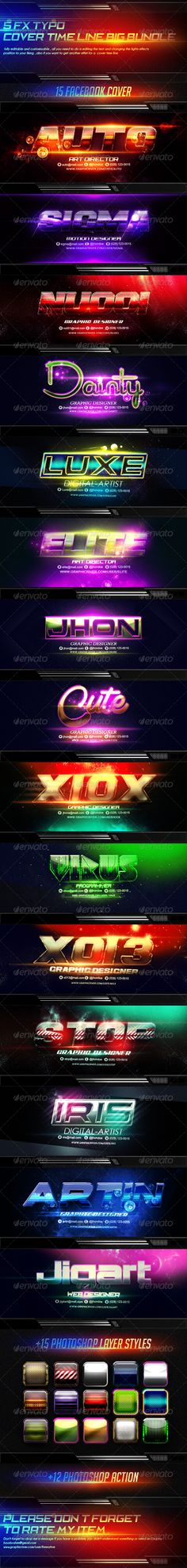 15 FX Typo Facebook Cover Timeline Bundle — Photoshop PSD #designer #digital • Available here → https://graphicriver.net/item/15-fx-typo-facebook-cover-timeline-bundle/8296394?ref=pxcr