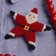 Santa Star - Plastic Canvas ePattern,   Leisure Arts - $2.99 (http://www.leisurearts.com/products/twinkle-twinkle-little-santa-plastic-canvas-pattern-digital-download.html)