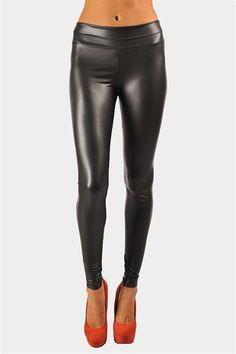 i've been living in my BCBG MAx Azria leather leggings since September. literally. living.   Nick Shiny Legging - Black
