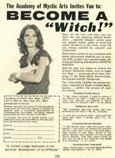 Become a Witch vintage advertisement