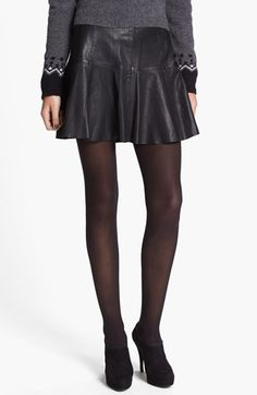 Joie 'Terina' Paneled Leather Skirt | Nordstrom
