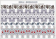 traditional Romanian motifs - OLTENIA Dolj - Romanati | Semne Cusute | Bloglovin' Blackwork Embroidery, Folk Embroidery, Indian Embroidery, Hand Embroidery Designs, Embroidery Stitches, Embroidery Patterns, Cross Stitch Geometric, Cross Stitch Borders, Cross Stitch Patterns