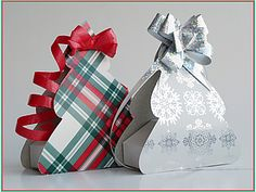 pudełka na prezent - choinki