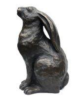 bronze hare sculpture
