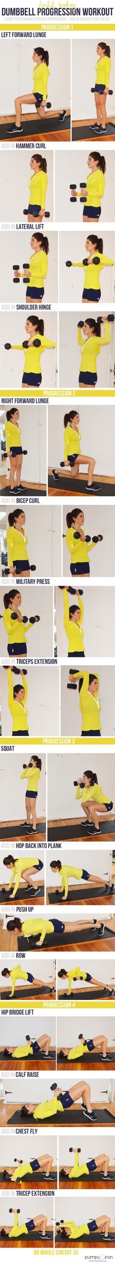 All you'll need for today's workout is a set of dumbbells. There's not really any jumping around involved, so this would be a good one if you're working out at home and have to be conscious of down…